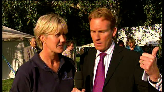 best in breed competition ENGLAND Hertfordshire Hatfield House EXT Reporter to camera Julie Sibun interview SOT CUTAWAYs pigs in the judging ring