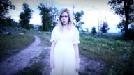 Haunted Ghost Woman in the Woods