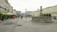 WS PAN Hauptplatz (main square) with Pestsaule in center