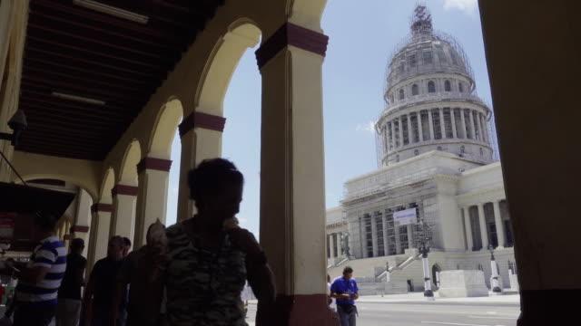 Havana Cuba Capitolio from columns porch