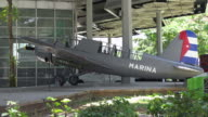 Havana,Cuba: Revolution Museum Outdoors Areas, old vintage planes of the Cuban airforce