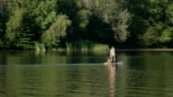 Having family fun in a lake