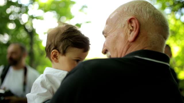 Having fun with grandpa