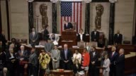 Having overtaken morning hour debate reserved for general speeches an hour earlier members of the House Democratic Caucus are seen occupying the well...