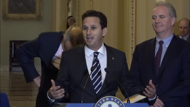 Hawaii Senator Brian Schatz tells reporters that a tax reform bill looks like it was written for donors rather than constituents as New York...