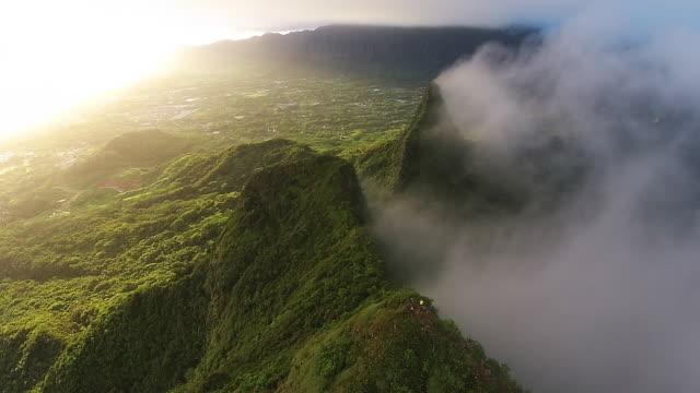 Hawaii sunset at Mount Olomana.