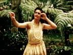 1950 Hawaiian Luau and hula dancing