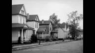 Hawthorne Street in Dayton Ohio / image of Wright brothers / CU Number 7 Hawthorne Wright brother's home / interior of house The Wright brothers home...