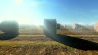 Haybales in einem Feld
