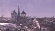 Haze hangs over Geneva.