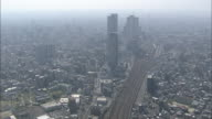 A haze hovers over the city of Nagoya, Japan.