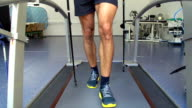 HD:Athlete Performing ECG and VO2 test on Treadmill
