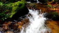 HD:Beautiful waterfall in nature.(Crane shot).