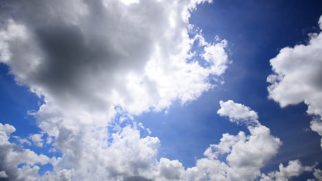 HD:Blue sky and cloud nature background