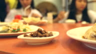 HD:Chinese food on chinese rotate table style.