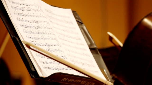 HD: Close-up note musicali foglio.