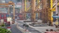 HD: l'operazione di Container nel porto di mare.