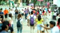 HD:Crowd people walking on the road.(Timelapse)