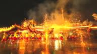 HD: Drachentanz, um das chinesische Neujahr zu feiern.