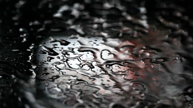 HD:Drops of water on Metallic surface .