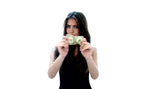 HD:Girl stretches a dollar