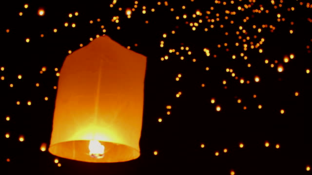 HD:Lantern floating in the air.