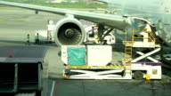 HD:Loading cargo for air freight logistics.(Timelapse)