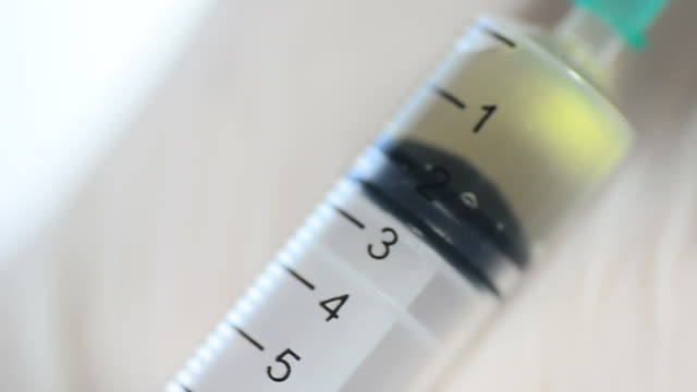 HD:Medical Syringe inject the vaccine and medicine