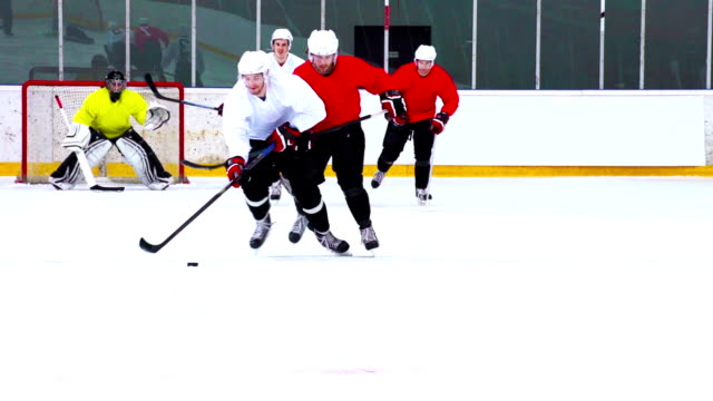 HD:M.S.Shot of Hockey Players Duelling