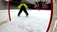 HD: Schuss von Eishockey-Team Punkten