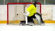 HD:Super Slo-Mo Shot of Ice Hockey Players Scoring
