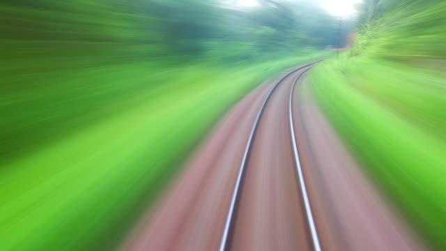 HD: treno in viaggio. (Timelapse.)
