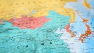 HD:World map panning view.