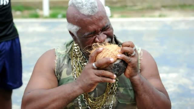 He has the jaw of a shark and a huge craving for coconuts Andres Gardin is known in Panama as the coconut peeler and claims to have made the Guinness...