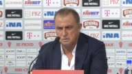 Head coach Fatih Terim of Turkey speaks during a press conference after 2018 FIFA World Cup Qualifying soccer match with Croatia at Maksimir Stadium...