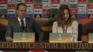 Head coach Frank De Boer of Ajax holds a press conference after UEFA Europa League group A match with Fenerbahce at Sukru Saracoglu Stadium in...