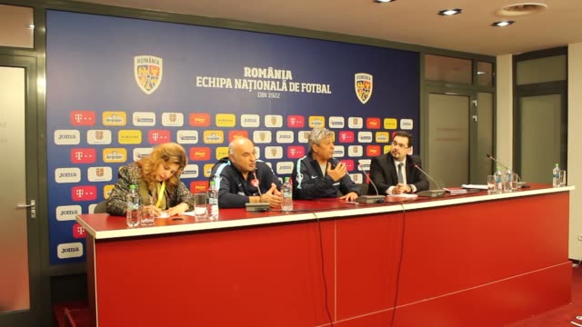 Head coach Mircea Lucescu of Turkish national soccer team holds a press conference ahead of a friendly soccer match with Romania which will be held...
