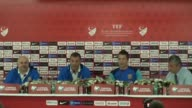Head coach of Ukraine national team Andriy Shevchenko attends a press conference prior to UEFA 2018 World Cup Qualifying match between Turkey and...
