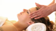Head massage.