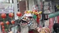 Head of dragon dance.