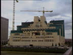 MI6 head revealed by PM C22019202 ITN London Vauxhall GV New MI6 headquarters under construction ZOOM MS Ditto