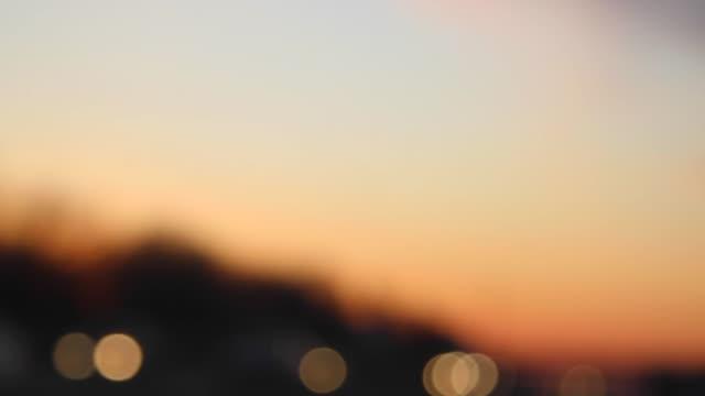 Headlights at dusk