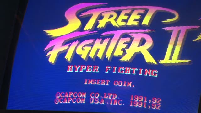 Headquarters Bar in downtown Chicago combines the love of craft beer and arcade games Street Fighter II Arcade Game on October 10 2013 in Chicago...