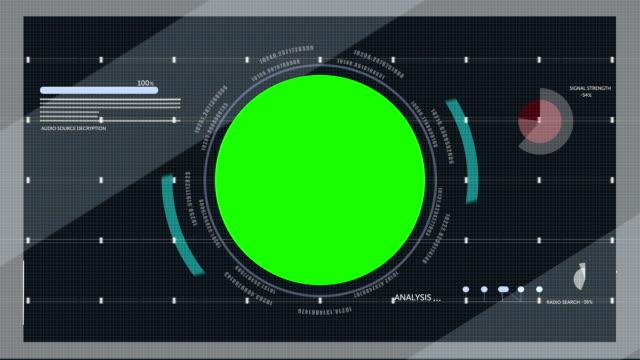 Heads Up Display With Green Screen