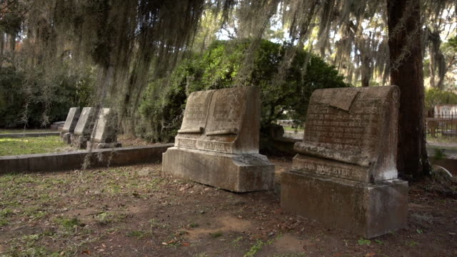 Headstones at an Historic Cemetery