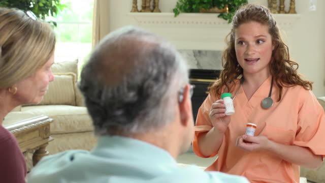 Healthcare Professional Explaining Prescription Dosages