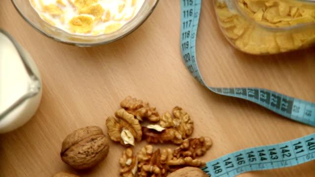 Healthy food. Video.