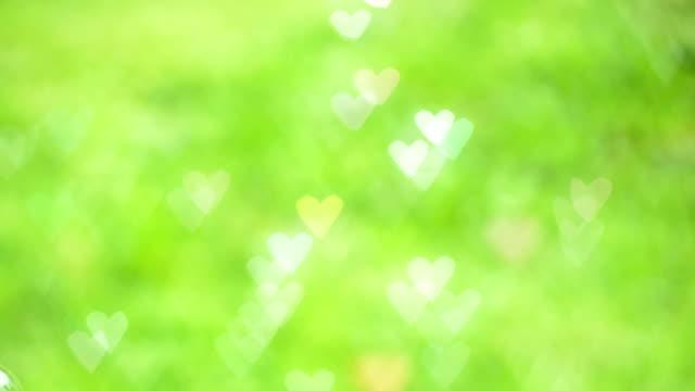 Bokeh Heart Shape Of Light Background Stock Footage Video: Heart Shape Colorful Bokeh Background Stock Footage Video
