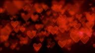 Heart shape moving background