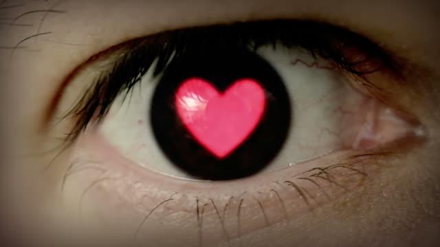 Heart shaped eye.